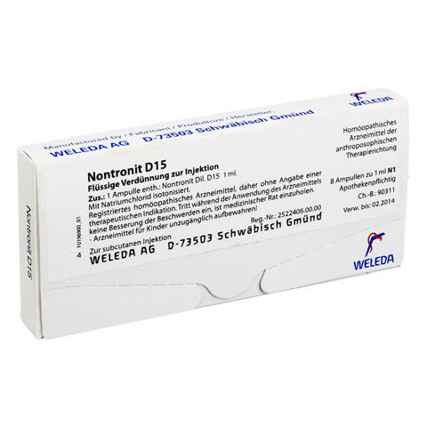 NONTRONIT D 15 Ampullen 8x1 Milliliter N1