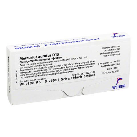 MERCURIUS AURATUS D 15 Ampullen 8x1 Milliliter N1