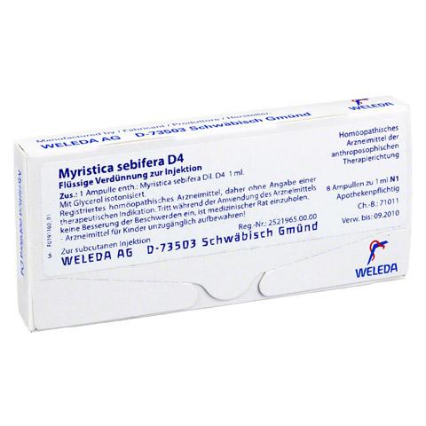 MYRISTICA SEBIFERA D 4 Ampullen 8 Stück N1
