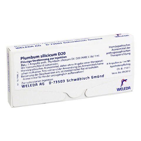 PLUMBUM SILICICUM D 20 Ampullen 8x1 Milliliter N1