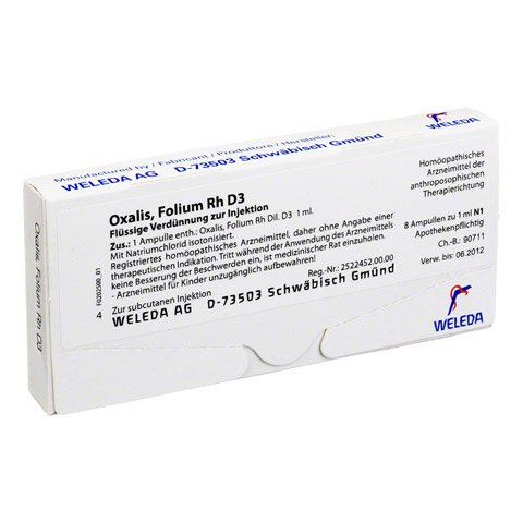 OXALIS FOLIUM Rh D 3 Ampullen 8x1 Milliliter N1