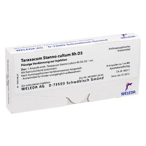 TARAXACUM STANNO cultum RH D 3 Ampullen 8x1 Milliliter N1