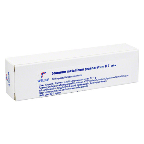 STANNUM METALLICUM praeparatum D 7 Salbe 25 Gramm N1