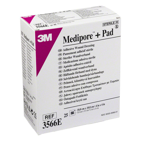 MEDIPORE Plus Pad 3566E steriler Wundverband 25 Stück