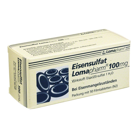 Eisensulfat Lomapharm 100mg 50 Stück N2