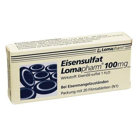 Eisensulfat Lomapharm 100mg 20 Stück N1