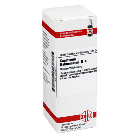 CAUSTICUM HAHNEMANNI D 4 Dilution 20 Milliliter N1