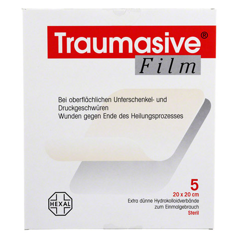 TRAUMASIVE Film 20x20cm Hydrokolloid-Verband 5 Stück
