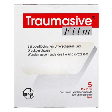 TRAUMASIVE Film 15x15cm Hydrokolloid-Verband 5 Stück