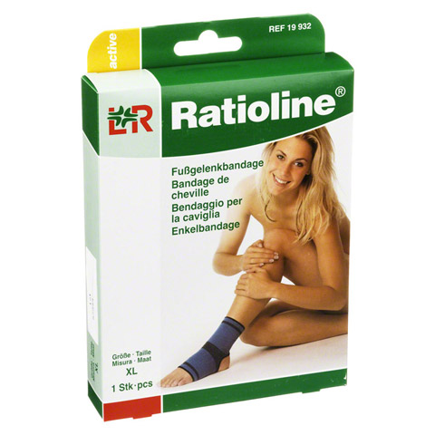 RATIOLINE active Fußgelenkbandage Gr.XL 1 Stück