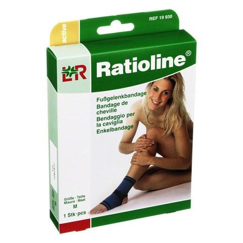 RATIOLINE active Fußgelenkbandage Gr.M 1 Stück