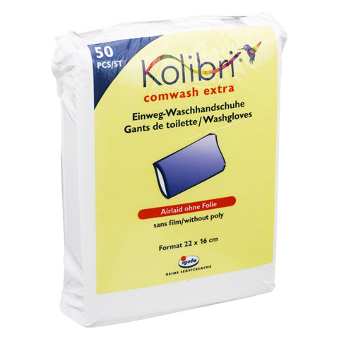 KOLIBRI comwash extra Waschhandschuh unfol.16x24cm 50 Stück