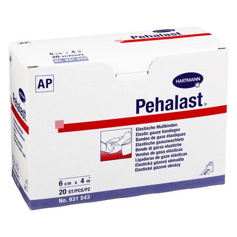 PEHA-LAST Mullbinde elastisch 6 cmx4 m lose 20 Stück