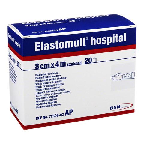 ELASTOMULL hospital 8 cmx4 m elast.Fixierb.weiß 20 Stück