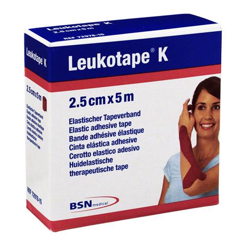 LEUKOTAPE K 2,5 cm rot 1 Stück