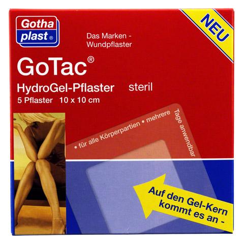 GOTAC HydroGel-Pflaster L 10x10 cm steril 5 Stück