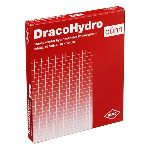 DRACOHYDRO dünn Hydrokoll.Wundauflage 10x10 cm 10 Stück