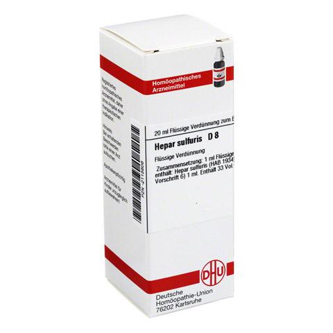 HEPAR SULFURIS D 8 Dilution 20 Milliliter N1