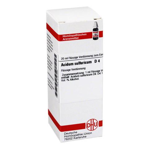ACIDUM SULFURICUM D 4 Dilution 20 Milliliter N1