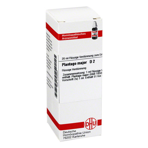 PLANTAGO MAJOR D 2 Dilution 20 Milliliter N1