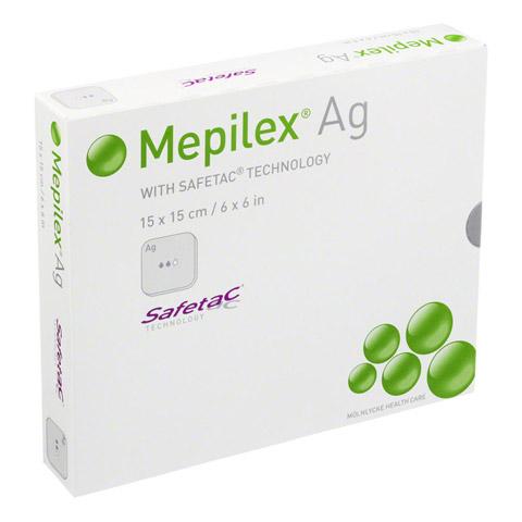 MEPILEX Ag Schaumverband 15x15 cm steril 5 Stück