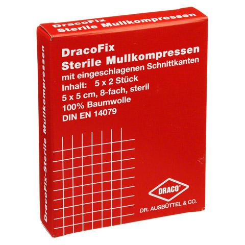 DRACOFIX PEEL Kompressen 5x5 cm steril 8fach 5x2 Stück