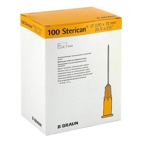 STERICAN Kanülen 20 Gx2 4/5 0,9x70 mm 100 Stück