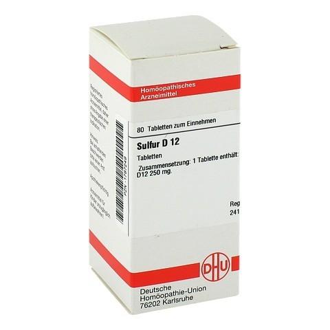 SULFUR D 12 Tabletten 80 Stück N1