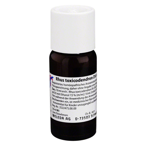 RHUS TOXICODENDRON D 6 Dilution 50 Milliliter N1