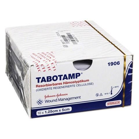 TABOTAMP Hämostyptikum 5x1,25cm Wundgaze 10 Stück