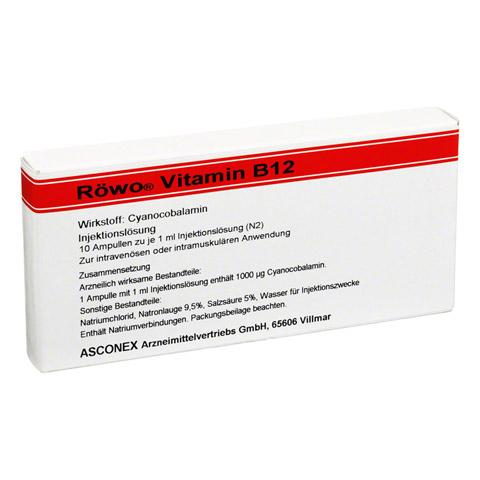 VITAMIN B12 Röwo 1.000 µg Ampullen 10x1 Milliliter N2