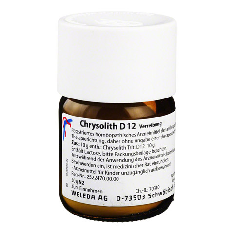 CHRYSOLITH D 12 Trituration 50 Gramm N2