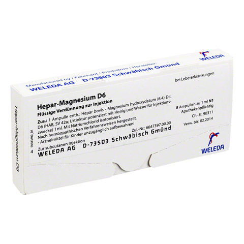 HEPAR MAGNESIUM D 6 Ampullen 8x1 Milliliter N1