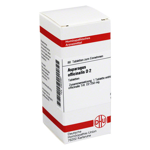 ASPARAGUS OFFICINALIS D 2 Tabletten 80 Stück N1