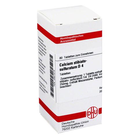 CALCIUM STIBIATO sulfuratum D 4 Tabletten 80 Stück N1