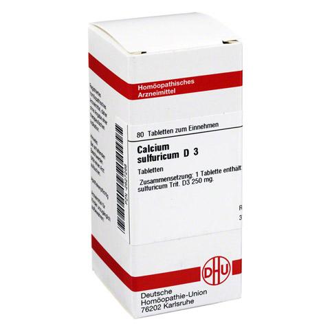 CALCIUM SULFURICUM D 3 Tabletten 80 Stück N1