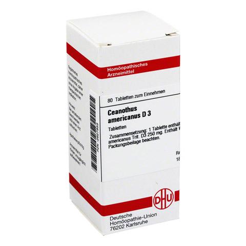 CEANOTHUS americanus D 3 Tabletten 80 Stück N1