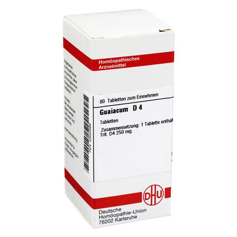 GUAIACUM D 4 Tabletten 80 Stück N1