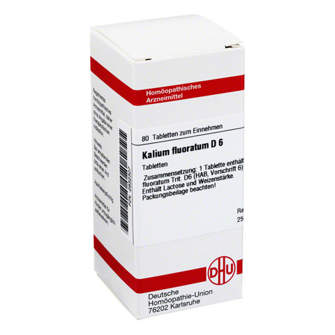 KALIUM FLUORATUM D 6 Tabletten 80 Stück