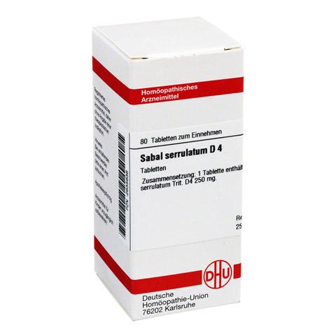 SABAL SERRULATUM D 4 Tabletten 80 Stück N1