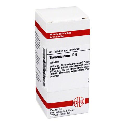 THYREOIDINUM D 6 Tabletten 80 Stück N1