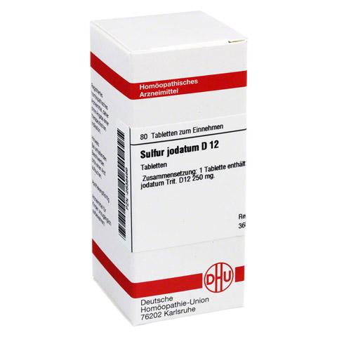 SULFUR JODATUM D 12 Tabletten 80 Stück N1