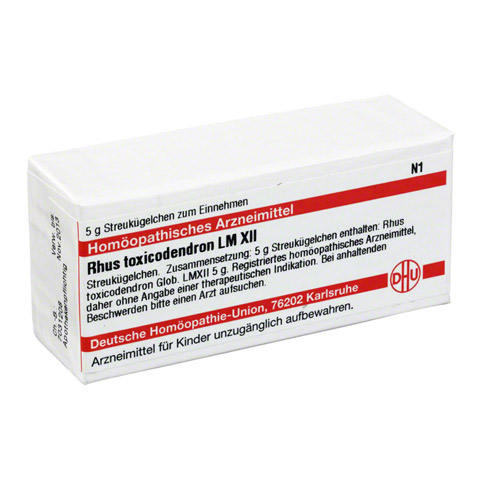 LM RHUS toxicodendron XII Globuli 5 Gramm N1