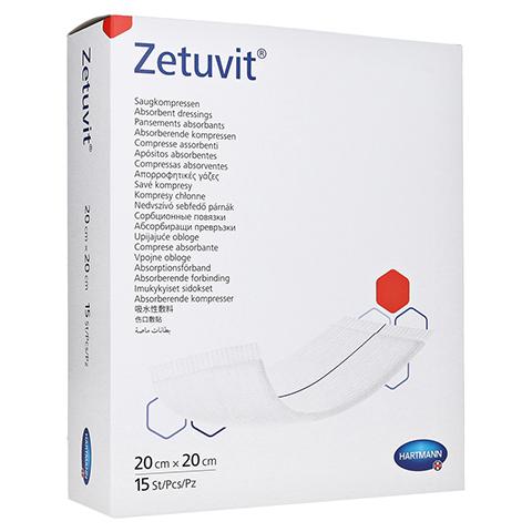 ZETUVIT Saugkompresse steril 20x20 cm 15 Stück
