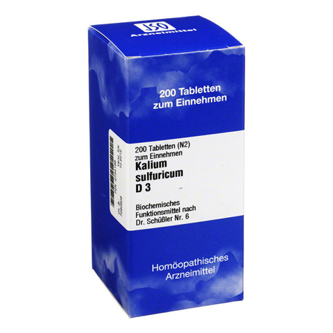 BIOCHEMIE 6 Kalium sulfuricum D 3 Tabletten 200 Stück N2