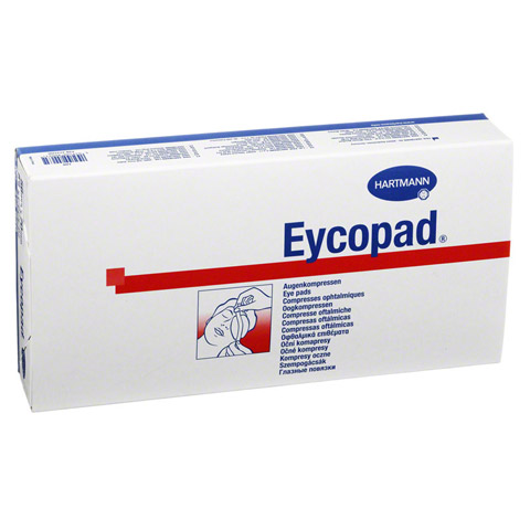 EYCOPAD Augenkompressen 56x70 mm unsteril 50 Stück