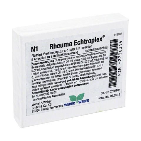 RHEUMA ECHTROPLEX Injektionslösung 5x2 Milliliter