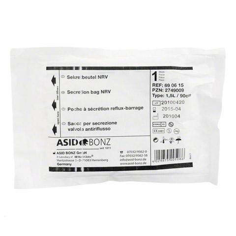 SEKRETBEUTEL steril 1,5 l 90 cm Schlauch 1 Stück