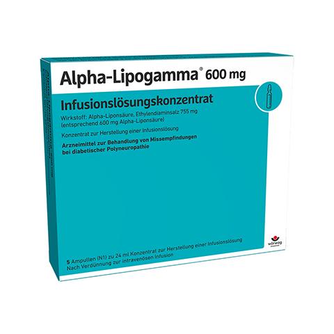 ALPHA LIPOGAMMA 600 Inf.Lsg.Konzentrat Inf.-Lsg. 5x24 Milliliter N1