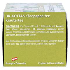 KÄSEPAPPELTEE Dr.KOTTAS Filterbeutel 20 Stück - Linke Seite